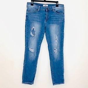 JBD Distressed Crop Jeans (P48)